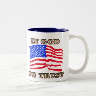 In God We Trust American Flag Mug