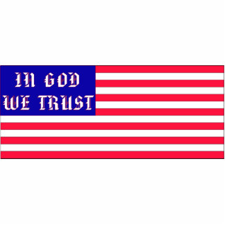 In God We Trust American Flag Photo Cutout