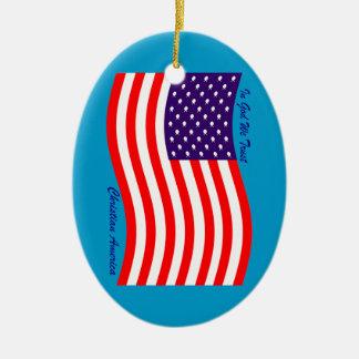 In God We Trust ~ Christian America Christmas Ornament