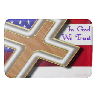 in god we trust christian bath mat