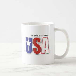 """In God We Trust"" coffee mug with Psalms 34:8"