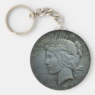In GOD we trust - Coin of 1922 Basic Round Button Key Ring