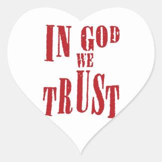 In God We Trust Heart Sticker