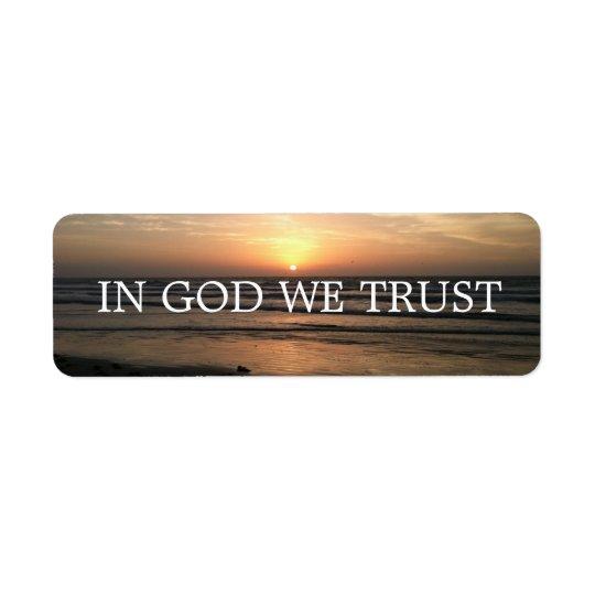 IN GOD WE TRUST LABEL