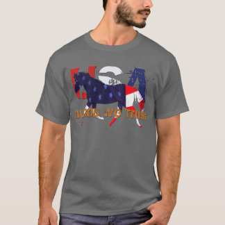 In God We Trust-Patriotic Horse T-Shirt