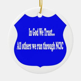 In God We Trust Police Ornament
