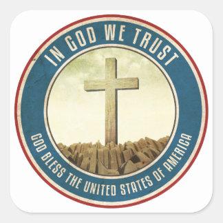 In God We Trust Square Sticker