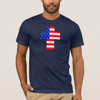 In God we Trust USA Flag Cross T-Shirt