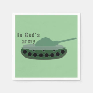 in God's army (tank) Disposable Napkin