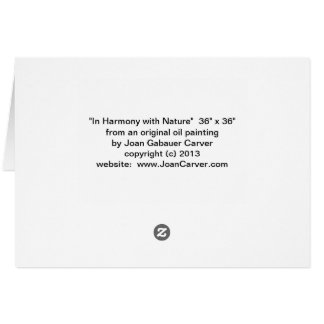 """""""In Harmony with Nature"""" Card"""