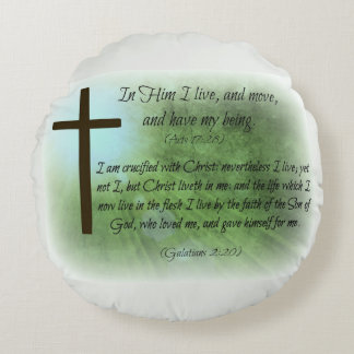 In Him I live - Scripture Pillow