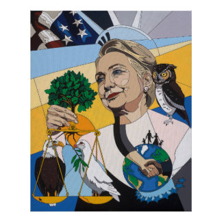 In honor of Hillary Clinton Poster