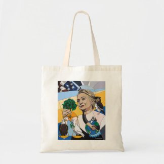 In honor of Hillary Clinton tote Budget Tote Bag