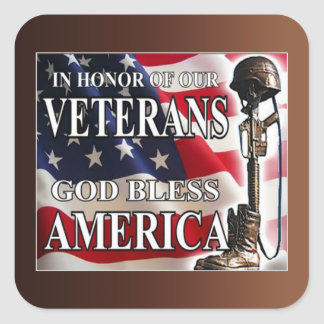 In Honor Of Veterans Day Stickers