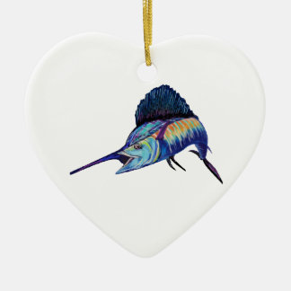 IN HOT PURSUIT CERAMIC HEART DECORATION