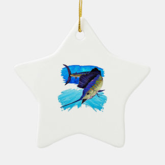 IN HOT PURSUIT CERAMIC STAR DECORATION