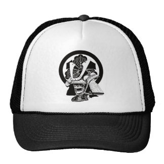 In house crest armor circle sword three Kashiwa Cap