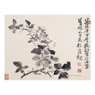 In Imitation of Xu Wei's Flowers No.5 Postcard