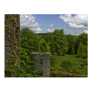 In Ireland, at Blarney Castle a stone tower in Postcard