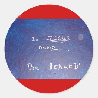 IN JESUS NAME - 1118 CLASSIC ROUND STICKER