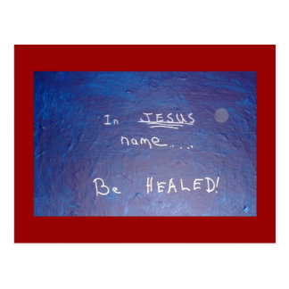 IN JESUS NAME - 1118 POSTCARD