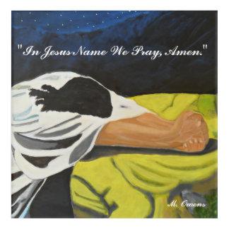 "In Jesus Name We Pray Acrylic Wall Art, 12"" x 12"" Acrylic Wall Art"