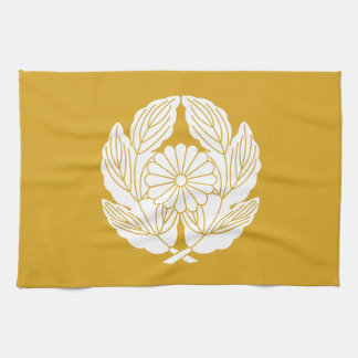 In leaf of holding chrysanthemum chrysanthemum tea towel