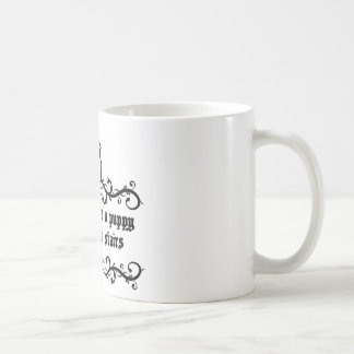 In Life You Are A Puppy Climbing The Stairs Coffee Mug