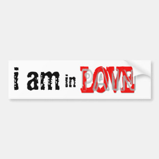 In Love Pain Bumper Sticker