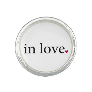 In Love ring wedding engagement Love heart ring