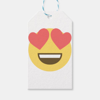 In love smiley emoji gift tags