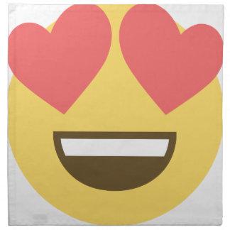 In love smiley emoji napkin