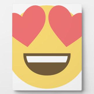 In love smiley emoji plaque