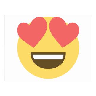 In love smiley emoji postcard