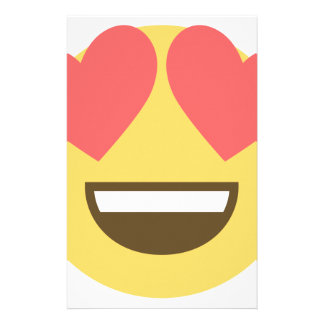 In love smiley emoji stationery