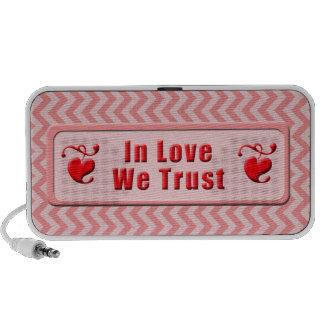In Love We Trust Notebook Speaker