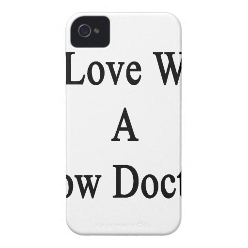 In Love With A Cow Doctor iPhone 4 Covers