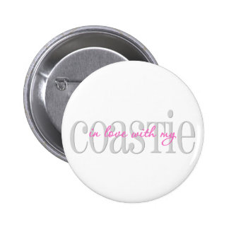In Love With My Coastie Pinback Buttons