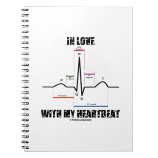 In Love With My Heartbeat (Electrocardiogram) Notebook