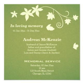 In Loving Memory 13 Cm X 13 Cm Square Invitation Card