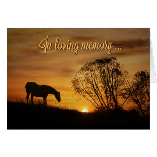In Loving Memory and Deepest Sympathy Horse Card