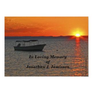 """In Loving Memory Celebration of Life Invitation 5"""" X 7"""" Invitation Card"""