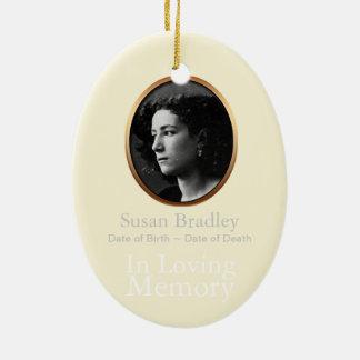 In Loving Memory custom Memorial Photo Ornament