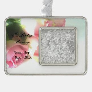 In loving memory custom photo memorial ornament