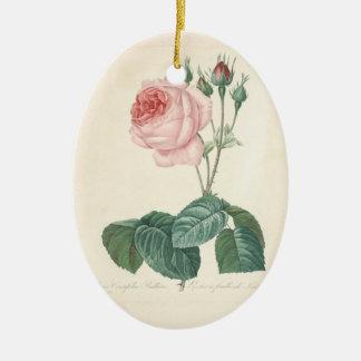 In Loving Memory Custom Photo + Rose Memorial Christmas Tree Ornaments