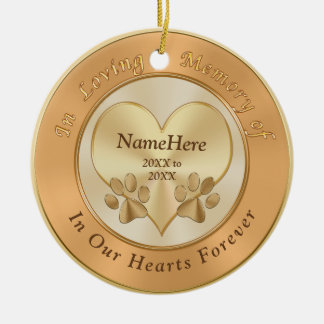 In Loving Memory Dog Sympathy Gifts PERSONALIZED Ceramic Ornament