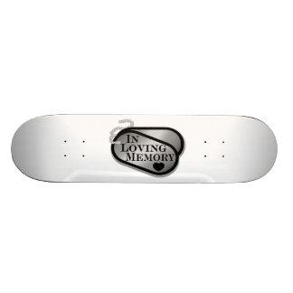 In Loving Memory Dog Tags Custom Skate Board