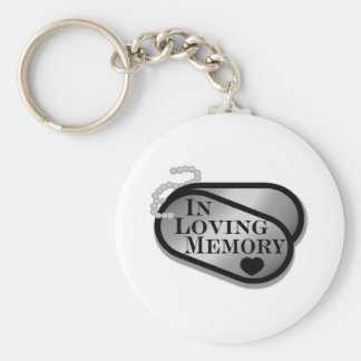 In Loving Memory Dog Tags Key Ring