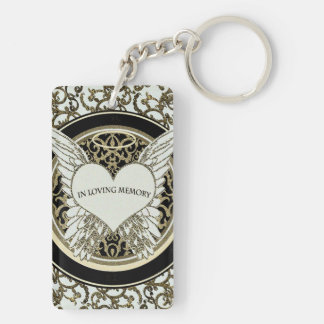 In Loving Memory Double-Sided Rectangular Acrylic Key Ring