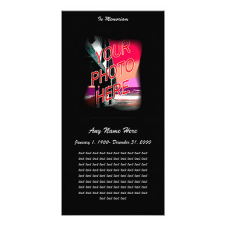 In Loving Memory- Fade to Black Photo Card